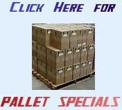 pallets of merchandise for resale